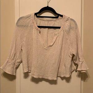 Tops - Cute light cover up/ crochet top